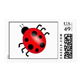 Lady Bug Fly Away Postage Stamp