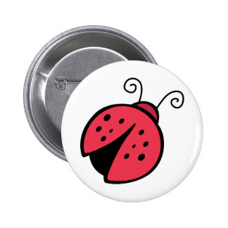 Lady Bug - Good Luck Insect Bugs 2 Inch Round Button