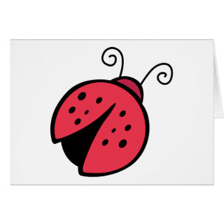 Lady Bug - Good Luck Insect Bugs Greeting Card