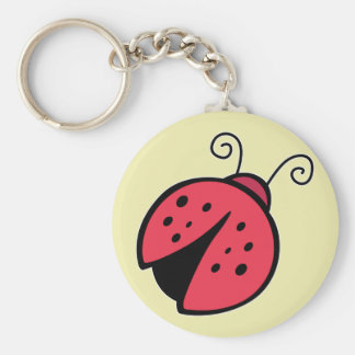 Lady Bug - Good Luck Insect Bugs Basic Round Button Keychain