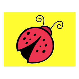 Lady Bug - Good Luck Insect Bugs Postcard