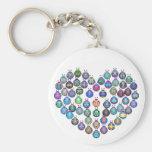 Lady Bug Heart Key Chain