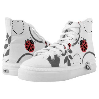 Lady Bug High Top Printed Shoes