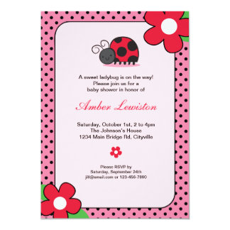 Lady Bug Invitation