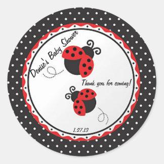 Lady Bug Label/Sticker Classic Round Sticker