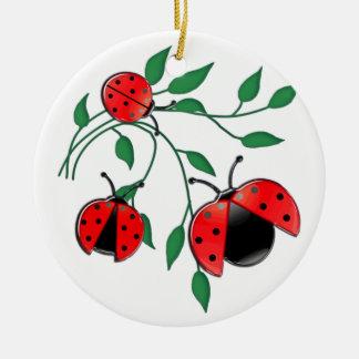 Lady Bug, Lady Bugs Ceramic Ornament