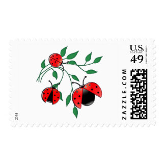 Lady Bug, Lady Bugs Fly Away Home Postage Stamp