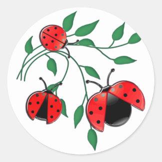 Lady Bug, Lady Bugs Classic Round Sticker