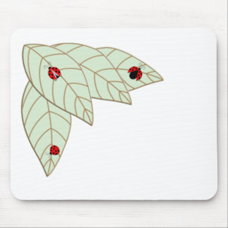 Lady Bug Leaves Mouse Pad