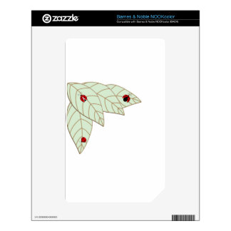 Lady Bug Leaves Decal For The NOOK Color