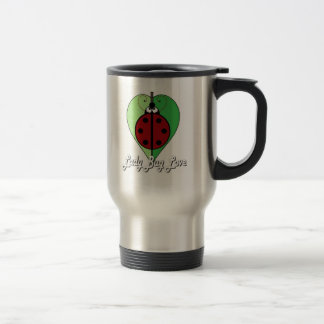 Lady Bug Love in White Travel Mug