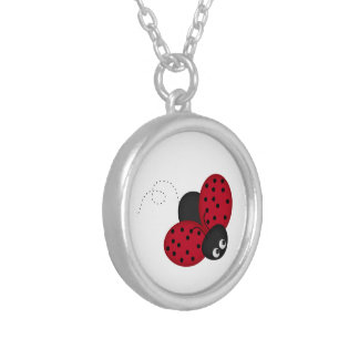 lady bug luck necklace