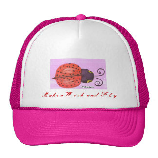 Lady Bug  Make a Wish and Fly Trucker Hat