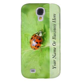 Lady Bug on Feverfew Leaf Galaxy S4 Cover