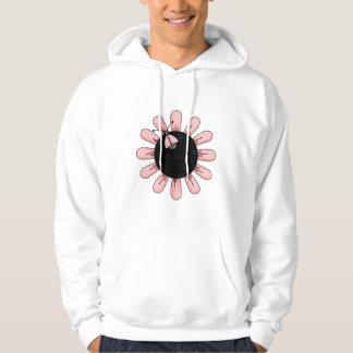 lady bug on pink flower hoodie