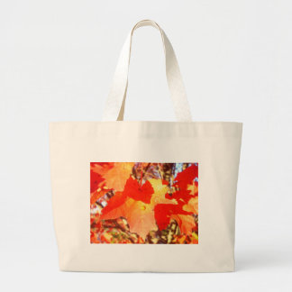 Lady Bug on Red Maple leaf Bags
