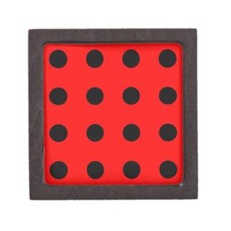 Lady Bug Pattern Polka Dots Premium Trinket Box