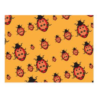 lady bug pattern postcards
