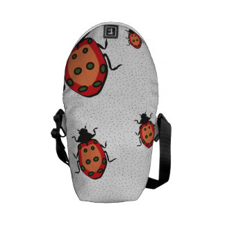 lady bug pattern texture courier bag