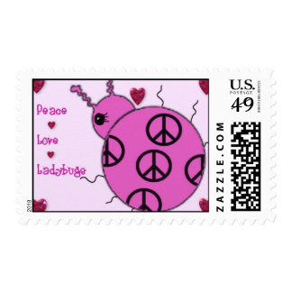 Lady Bug Peace Postage