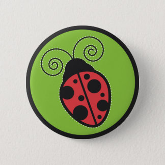 Lady Bug Pinback Button