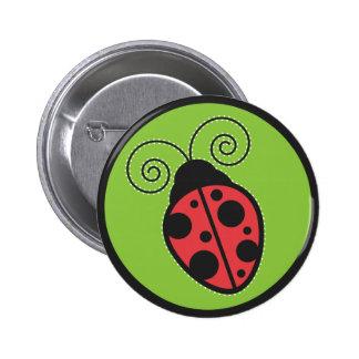 Lady Bug Pinback Button