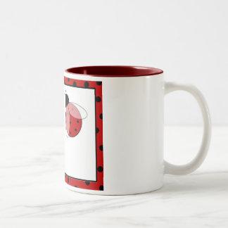 Lady Bug Polka Dots Two-Tone Coffee Mug