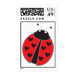 Lady Bug Postage Stamp