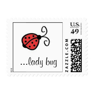 """""""Lady Bug"""" Postage Stamps"""