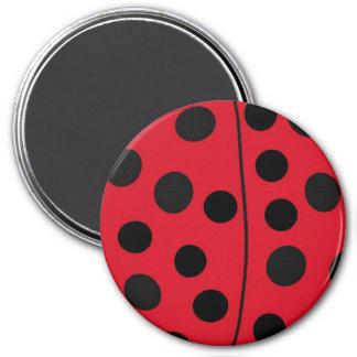 Lady Bug Red and Black Design Magnet
