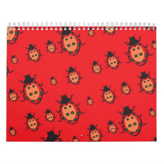 lady bug red calendars