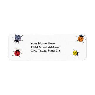 Lady Bug Return Address Labels