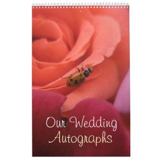 Lady Bug Roses Wedding Calendar
