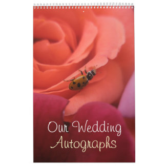 Lady Bug Roses Wedding Calendar