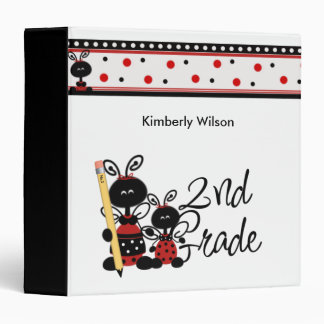 Lady Bug Second Grade Binder