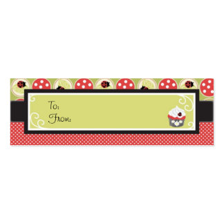 Lady Bug Skinny Gift Tag Business Cards