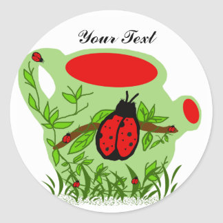 Lady bug tea pot, Your Text stickers
