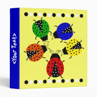 Lady Bug Team Meeting Vinyl Binder