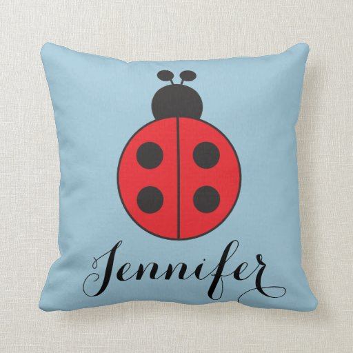 Throw Out Pillows Bed Bugs : Lady Bug Throw Pillows Zazzle