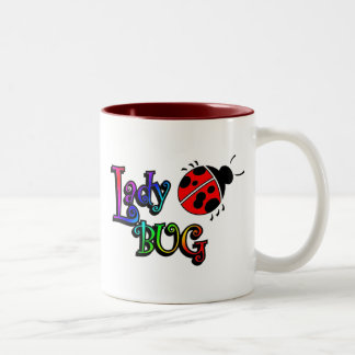 lady bug Two-Tone coffee mug