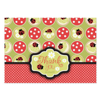 Lady Bug TY Gift Tag Business Card