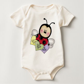 Lady bug Valentine Baby Bodysuit