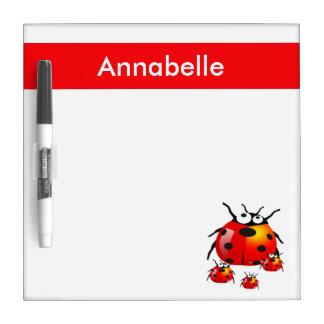lady bug with baby ladybugs dry erase board