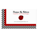 Lady Bug With Checkered Trim Business Cards