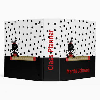 Lady Bug with Ruler Teacher s Class Planner 3 Ring Binder