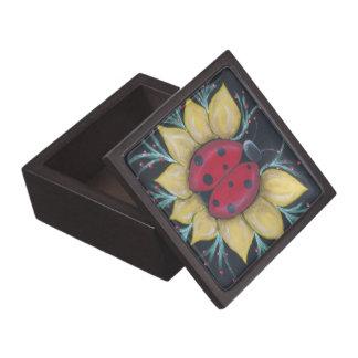 Lady Bug Wooden Gift Box by Biddybrain