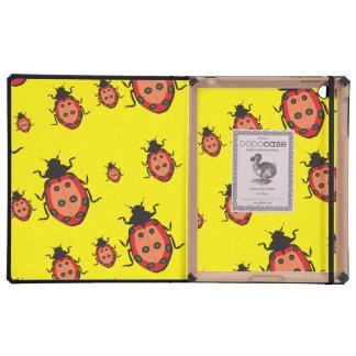 lady bug yellow iPad cover