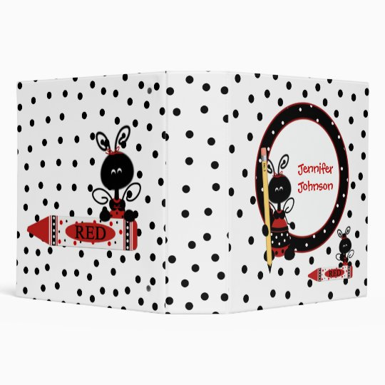 Lady Bugs and Polka Dots Teacher's Class Planner Binder