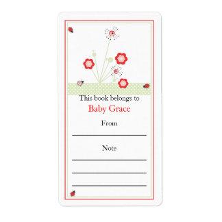 Lady Bugs Bookplate Custom Shipping Label