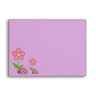 Lady Bugs & Cupcakes Pink Envelopes